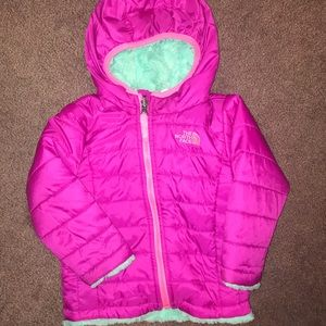 North Face Reversible Winter Coat, 12-18mo